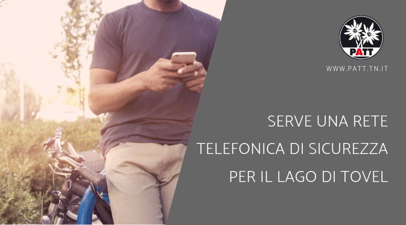 rete telefonica di sicurezza per il lago di Tovel