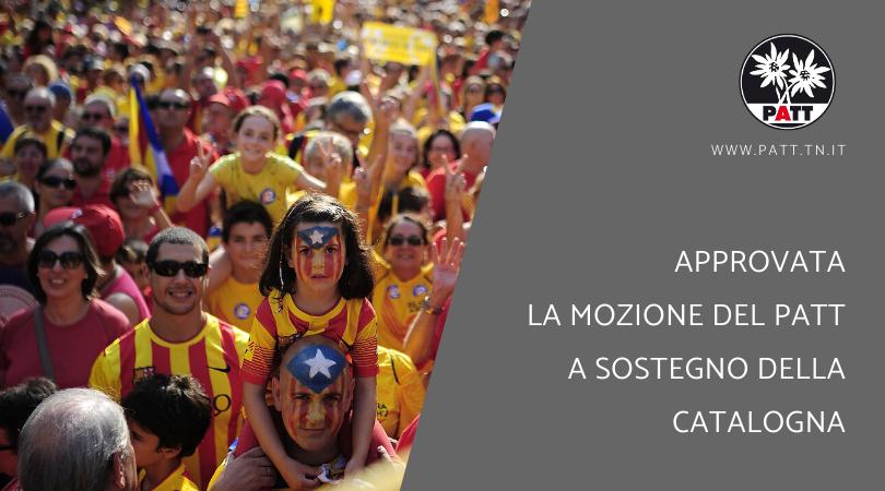 mozione del PATT a sostegno della Catalogna